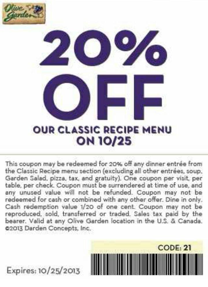Olive Garden 20 Percent Off Classics Menu National Pasta Day Dfw 39 S Price Matching Diva